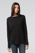 J Brand Women's Zeta Long Sleeve Top in Black