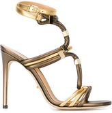 Sergio Rossi metal appliqué strappy sandals