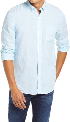 1901 Slim Fit Linen Button-Down Shirt