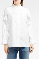 Paul & Joe Ruffle-Sleeve Cotton Shirt