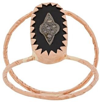 Pascale Monvoisin 9kt rose gold MAHE BLACK ring