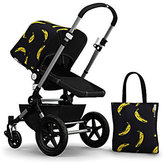 Bugaboo Andy Warhol Cameleon 3 Tailored Fabric Set, Banana/Black