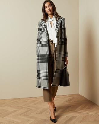 Ted Baker Wool Checked Coat