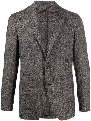 Tagliatore Check Knit Tailored Blazer