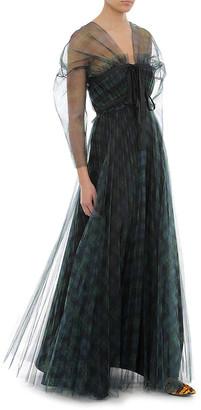 Philosophy di Lorenzo Serafini Printed Tulle Tartan Dress
