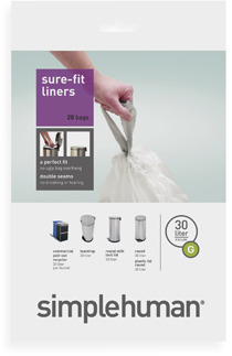 Simplehuman Code G Custom Fit 30-Liter Can Liners (20-Pack)
