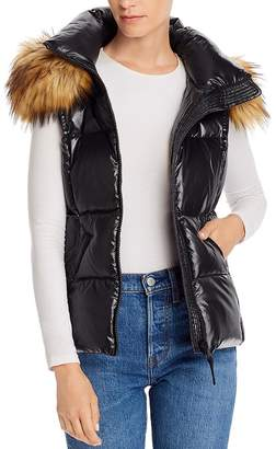 Aqua Faux Fur-Trim Hooded Puffer Vest - 100% Exclusive