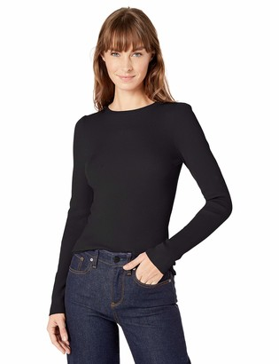 Lark & Ro Amazon Brand Women's Ribbed Puff Sleeve Sweater