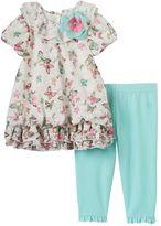 Nannette Toddler Girl Butterfly Lace Top & Leggings Set