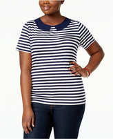 Tommy Hilfiger Plus Size Striped T-Shirt