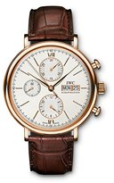 IWC Men's 42mm Brown Alligator Leather Band S. Sapphire Automatic -Tone Dial Analog Watch IW391020