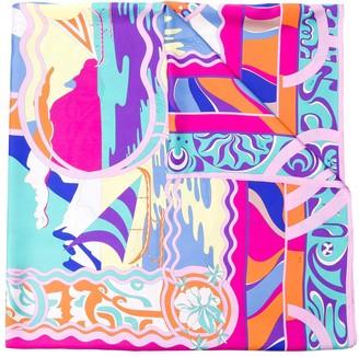 Emilio Pucci Tahiti Print Silk Stole