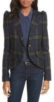 Smythe Women's Pouf Sleeve Plaid Blazer