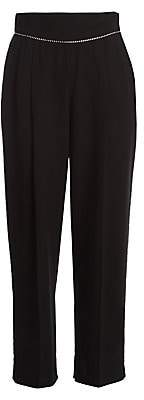 MSGM Women's High-Waist Embellished Pants