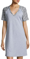 Cosabella Sterling Short-Sleeve Gown, Heather Gray