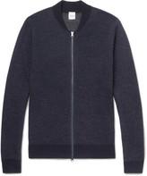Aspesi Mélange Wool Zip-Up Sweater