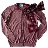 Prada Burgundy Wool Knitwear