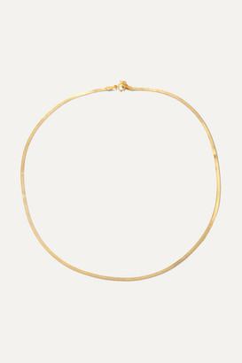 Loren Stewart - Herringbone 10-karat Gold Necklace - one size