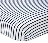 Nautica Mix & Match Striped Fitted Crib Sheet in Navy/White