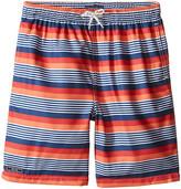 Toobydoo Multi Stripe Orange/Red/Navy/White Stripe Swim Shorts (Infant/Toddler/Little Kids/Big Kids)