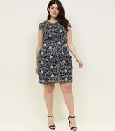 New Look Blue Vanilla Curves Lace Mini Dress
