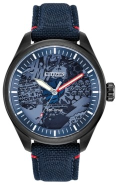Citizen Marvel by Eco-Drive Men's Marvel Heroes Blue Strap Watch 43mm