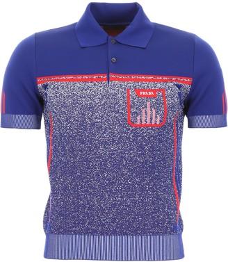Prada Logo Knit Polo Shirt