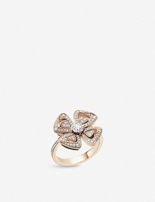 Bvlgari Fiorever 18ct rose-gold and diamond ring