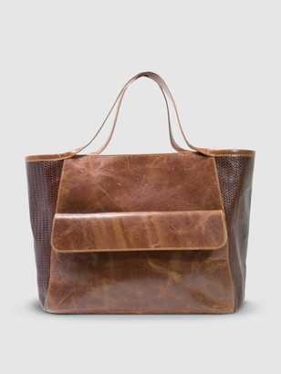 Area Stars Varick Satchel Bag in Brown Leather