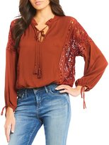 Chelsea & Violet Lace Panel Side Blouse