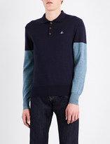 Vivienne Westwood Colourblock wool polo shirt