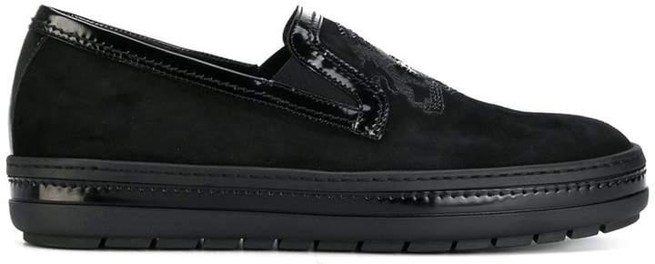 Baldinini emblem loafers