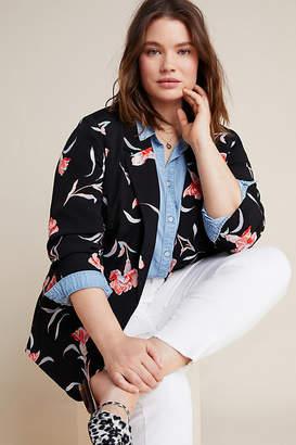Daniel Rainn Sweetpea Floral Plus Blazer By in Assorted Size 2 X