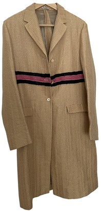 Miu Miu Gold Wool Coat for Women