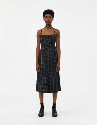 NEED Women's Ryder Button Down Dress in Black/White, Size Small | 100% Cotton