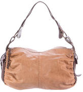 Henry Beguelin Topstitched Leather Shoulder Bag