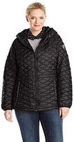 Steve Madden Women's Plus-Size Quilted Anorak Jacket