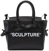 Off-White Black and Red Mini sculpture Cut Flap Bag