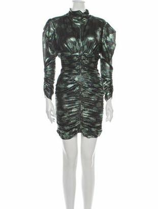 Isabel Marant Silk Mini Dress Green