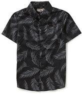 First Wave Big Boys 8-20 Palm Print Woven Shirt