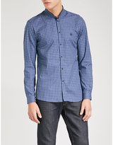 The Kooples Check slim-fit cotton-poplin shirt