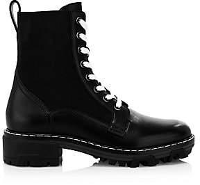 Rag & Bone Women's Shiloh Lace-Up Leather Combat Boots
