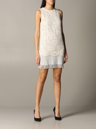 Elisabetta Franchi Dress In Tweed And Lace
