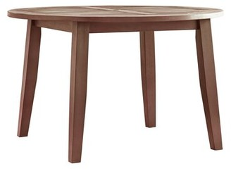 Three Posts Hursey Wooden Dining Table Color: Brown