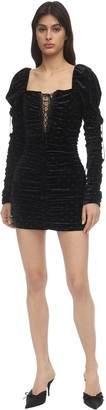 For Love & Lemons Lola Velvet Mini Dress