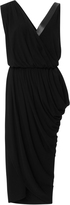 Michael Kors Plong Trim Asymmetric Drape Dress