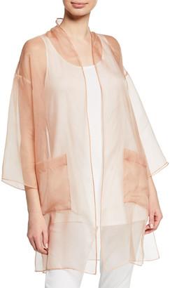 Eileen Fisher Washed Silk Organza Kimono