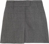 See by Chloe Pleated wool-flannel mini skirt