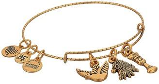 Alex and Ani Game of Thrones, Lannister Charm Bangle (Rafaelian Gold) Bracelet
