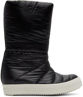 Rick Owens Black Puffer Boots